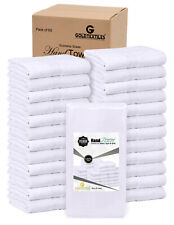 "GOLD TEXTILES 60 Pcs White 16""X27"" 100% Cotton Salon Towels Gym Towel Hand Towel"