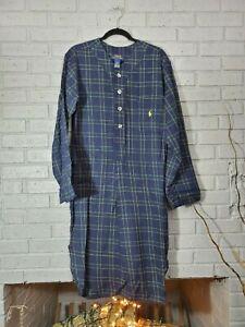 NWT Polo Ralph Lauren Mens sz Small Green Plaid Flannel Robe