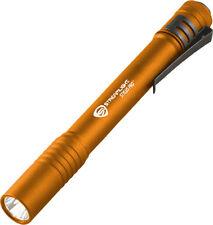 """Streamlight Stylus Pro LED 66128 5 1/4"""" overall. Orange finish machined aluminum"""
