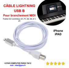 Cable Lightning vers USB Type B Pour iPhone iPad MIDI Keyboard Clavier Traktor