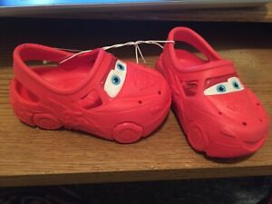 Toddler Boys Cars Water Shoes Sandals Clogs Brand New Sz 5/6