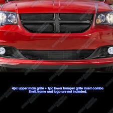 Fits 2011-2013 Dodge Grand Caravan Black Billet Grille Grill Comnbo Insert