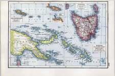 1922 Map Of Tasmania Papua And Samoa