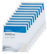 "10 x 160 Page Notepad Notebook Shorthand Pad 8"" x 5"" - Same Day Dispatch"