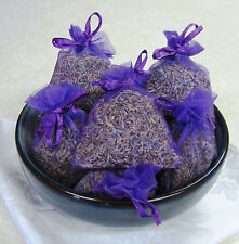 Set of 10 Lavender Sachets made with  Purple Organza Bags