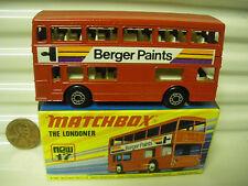 MATCHBOX MB17B BERGER PAINTS BUS CHARCOAL BASE DotDash Whls +AXLE Braces MINT*