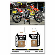2010-2013 Honda CRF 250 GEICO Fork Guards dirt bike graphics