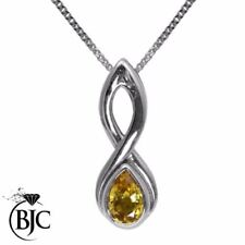 Collares y colgantes de joyería colgante en oro blanco zafiro