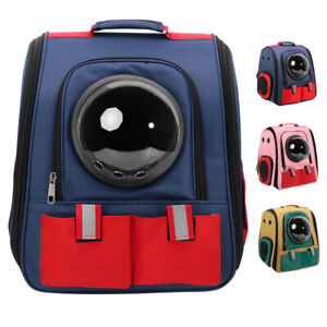 Pet Carrier Backpack Dog Cat Travel Bag Transparent Space Capsule Hiking Biking