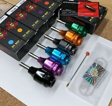BIG WASP tattoo machine needle cartridge grip  aluminum ORANGE FAST FROM AZ