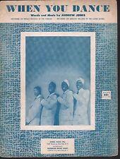 When You Dance 1955 The Turbans Sheet Music