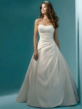 White Ivory Tulle Wedding Dress Bridal Gown Custom Stock Size 6 8 10 12 14 16 18