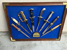 WWII WW2 KNIFE FIGHTING COMBAT KNIVES FRANKLIN MINT knife German gold plate