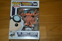 "Christopher Lloyd Signed ""Back To The Future"" Dr Emmett Brown Funko Pop Beckett"