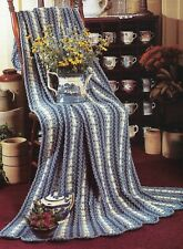 Country Eyelet Afghan Crochet Pattern Instructions