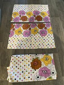 Vintage Retro Home Made Sheet And 2x Pillowcase Double Size Sheet Floral 70s