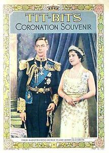 KING GEORGE VI - CORONATION - 12th MAY 1937 - TIT- BITS SOUVENIR - SCARCE & FINE
