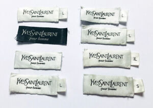 YSL YVES SAINT LAURENT Authentic Replacement Internal Clothing Labels x 8