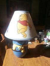 Winnie The Pooh Bear Honey Pot Nursery Lamp Ceramic Vintage