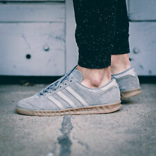 ADIDAS HAMBURG MENS SHOES GRAY SUEDE LEATHER JEANS CITY BERN GAZELLE S79985NEW
