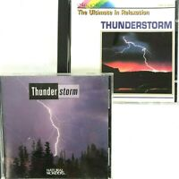 Thunderstorm Relaxation Mood 2 CD Lot Natural Wonders Magic Moods Nature 1986