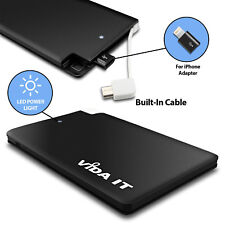 Pocket Slim Power Bank Portable Charger Credit Card sized fit to Mobile Phone