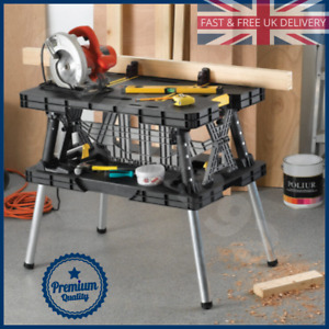 Keter Pro Series Portable Folding Work Bench With Removable Clamps DIY Trade UK