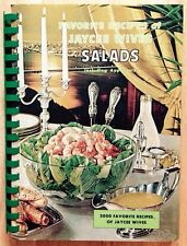 1968 FAVORITE RECIPES OF JAYCEE WIVES COOKBOOK, SALADS & APPETIZERS, JAYCEES