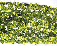 Gorgeous Vesuvianite Faceted Pear Briolette Gemstone Beads 6x9-10x14mm 8Inch
