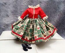 "Vintage Tagged Miss Nancy Ann Dress & Shoes Fits 10.5"" Dolls Vogue Jill Revlon"
