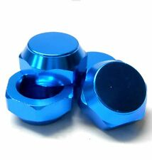 N10200B 1/8 Scale RC Buggy M12 17mm Alloy Wheel Cap Nuts Only Light Blue x 4
