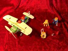Playmobil 3246 Propeller Flugzeug Doppeldecker mit Zubehör und mit Aufklebern!!