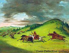 Battle Between Sac & Fox & Sioux by George Catlin 1847 Native American Art Print