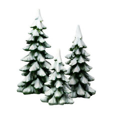 Department 56 Snow Village Winter Pines Trees Covered in Snow Accessory Figurine