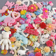 50pcs Cute Lots mix Assort Easter DIY Flat Back Resin Buttons Scrapbooking Craft