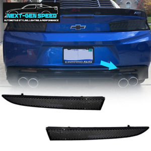 Chevy Camaro Smoked Dark Rear Reflectors Lights | Fits 2016 2017 2018 2019 2020