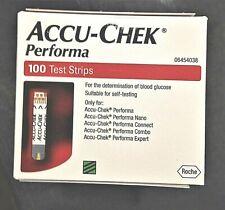Accu-Chek Performa Diabetic 100 Test Strips Box  Aussie SELLER
