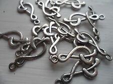 10 x musical note ~ treble clef ~ tibetan silver charm pendentif ~ fabrication de bijoux