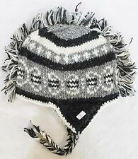 H7 Hand Knitted Mohawk Woolen Hat Cap with Fleece Lining Adult Made In Nepal