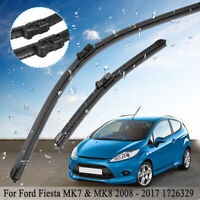 Pair Of Front Window Windscreen Wiper Blades Fit Ford Fiesta MK7 & MK8