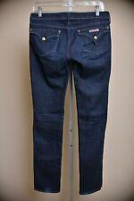 Hudson Dark Wash Skinny Slim Fit Jeans Low Rise Button Pockets Women's size 28
