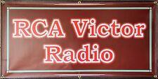 RCA VICTOR RADIO SERVICE RETRO SIGN OLD SCHOOL REMAKE BANNER GARAGE ART 2 X 4