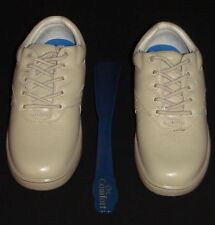New, Dr. Comfort Lindsey Women's 6-WIDE Diabetic Leather Shoes BEIGE (MSRP $175)
