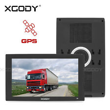 "XGODY 9"" Inch Truck HGV Lorry Coach SAT NAV GPS Free Map Update 2D 3D Map View"