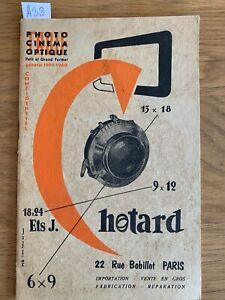 """Catalogue """" Photo Cinema Optique. Establishment Chotard """" 1959 - 1960 (Fr)"""