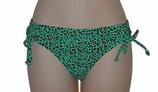 California Waves bikini bottom size L green hipster swimsuit new nwt