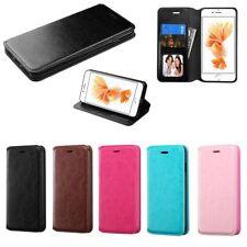 5 X Para Iphone 6 7 8 Plus Couro Folio Bolsa Carteira Cartão Flip Capa