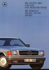 MERCEDES S-KLASSE COUPE SEC 420 500 560 C126 Prospekt Brochure 1987 60