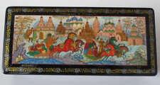 Russian Art Mstera Mstyora Lacquer Miniature Box M117