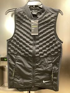 Nike Aeroloft Men's Repel Running Vest Black Upper 800 928501-010 Sz Small $180